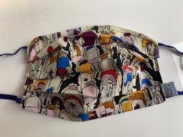 Stoff-Behelfsmaske