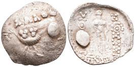 Ostkelten - Thasos Imitation - Tetradrachme mit antik gestopftem Loch - SELTEN - s.sch.