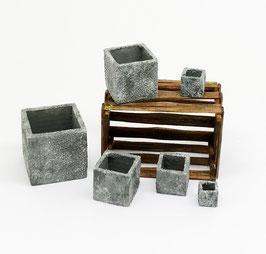 Töpfe Stein eckig - Pots stone square/rectangular