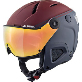 ALPINA ATTELAS VISOR QVM, nightblue-bordeaux matt QuattroVarioflex