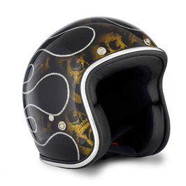 70's HELM Superflakes SKULLS & FLAME GOLD