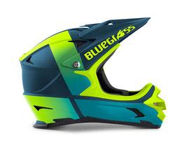 Bluegrass Downhillhelm Intox Petrol  neon-gelb