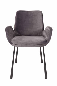DESIGN STUHL KUCKUCK DARK GREY SAMT