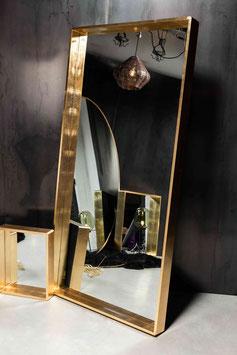 DESIGN SPIEGEL BLATTGOLD - Luxus in rechteckig