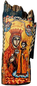 作品名  Virgin Mary No.21 (花を持つ聖母マリア No.21)