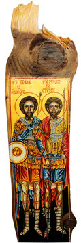 作品名 St.Teodor Tiron and St.Stratilat No.32(聖テオドル・タイロンと聖ストラティラット No.32)