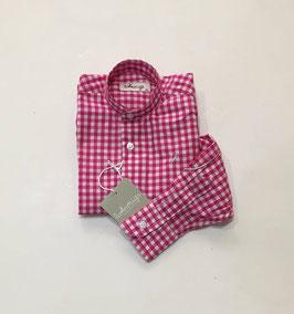 camisa vichy rosa y blanca