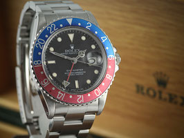 Vintage Rolex GMT Pepsi 16750 Armbanduhr mit Box Papiere aus 1984