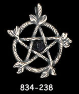 Oak Twig Pentacle with 5mm Stone