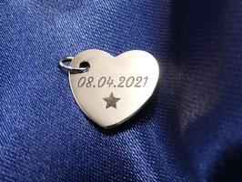 Gravurplättchen Herz 16mm