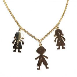 Kinderkette Mädchen/Junge 3 Anhänger