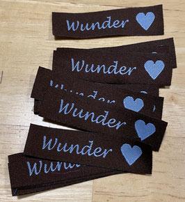 """Wunder"" (dunkelbraun / hellblau)"