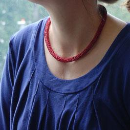 Strickkette rot/violett