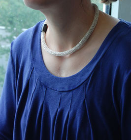 Strickkette silber