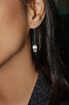Feinsilber Ohrringe Kronenlichtnelke