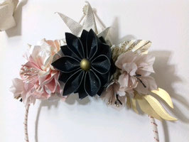 Couronne florale lumineuse - taille moyenne