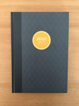 Wochenkalender 2020, steinblau