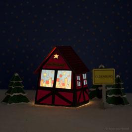 Mini Weihnachtsmarkthütte (inklusive Beleuchtung)