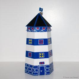 Leuchtturm Ahoi blau/weiß (Vorjahresdesign)