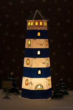 Leuchtturm blau/weiß