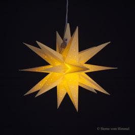 Oldenburger Adventsstern gelb Pünktchen (inklusive Beleuchtung) 3D Stern