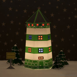 Leuchtturm Ahoi grün/weiß