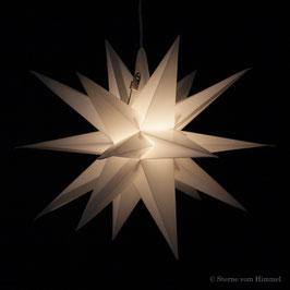 Midi Orion weiß (inklusive Beleuchtung) 3D Stern