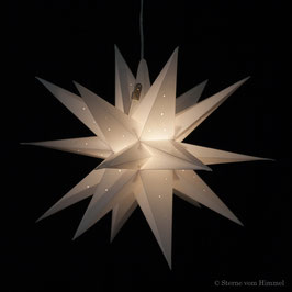 Midi Orion weiss Pünktchen (inklusive Beleuchtung) 3D Stern