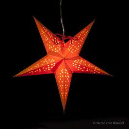Mini-Stern Sterntaler orange (inklusive Beleuchtung)