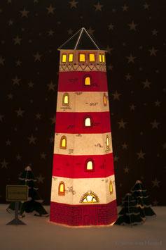 Leuchtturm rot/weiß