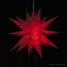 Midi Orion rot Pünktchen (inklusive Beleuchtung) 3D Stern