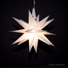 Oldenburger Adventsstern weiss Pünktchen (inklusive Beleuchtung) 3D Stern