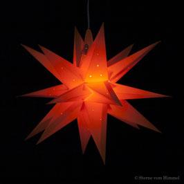 Midi Orion Orange Pünktchen (inklusive Beleuchtung) 3D Stern