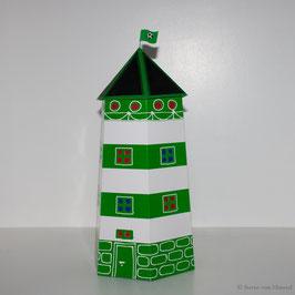 Leuchtturm Ahoi grün/weiß (Vorjahresdesign)