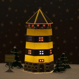Leuchtturm Ahoi schwarz/gelb