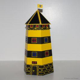 Leuchtturm Ahoi schwarz/gelb (Vorjahresdesign)