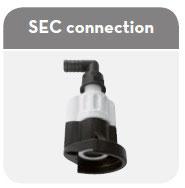 Connectique pour aspiration IBC 1000 L