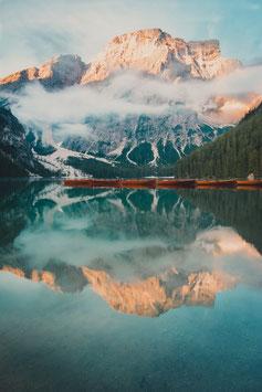 9974 - Pragser Wildsee bei Sonnenaufgang, Italien
