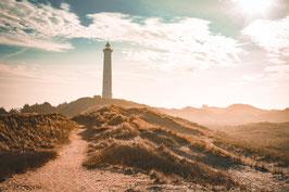 9982 - Leuchtturm in Dünen, Dänemark