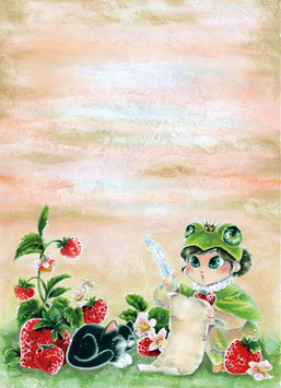 Notizblock Erdbeerfröschchen