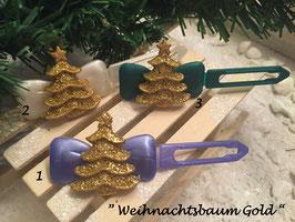 """HundeHaarSpange """" Weihnachtsbaum GOLD  Glitzer """""""