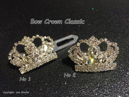 "HundeHaarSpange mit MetallApplikation  "" Crown Classic """
