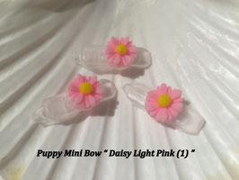 "HundeHaarSpange Mini Puppy Bow   "" Daisy Light Pink (1) """