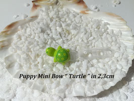 "HundeHaarSpange Mini Puppy Bow   "" Turtle """
