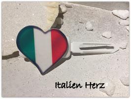 """"""" Italien Herz """"  HundeHaarMotivspange"""