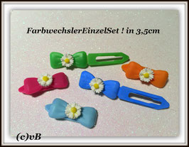 HundeHaarSpange Blume Farbwechsler  Nr. 3  French Daisy(1)