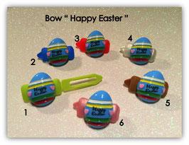 "Ostern  HundeHaarSpange  "" Ei Happy Easter blau """