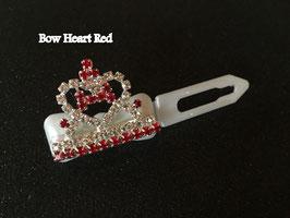 """HundeHaarSpange mit MetallApplikation """"  Rhinestone Heart crystal red /blue  """""""
