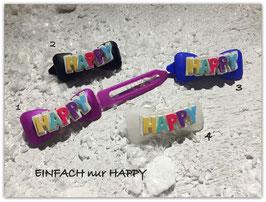 """HundeHaarSpangen """" Happy Birthday HAPPY 1 """""""