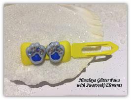 "HundeHaarSpange  "" Himalaya Glitter Paws Blue Crystall """